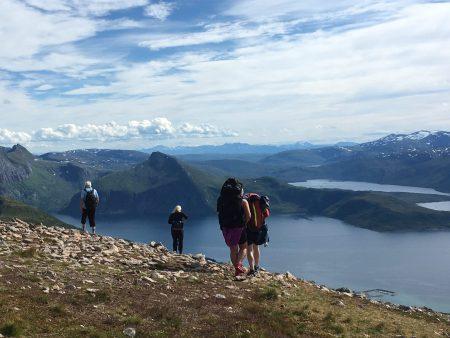 Hikers on Husfjellet, Senja