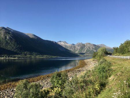 Norway by motorhome: driving in Kvaloya