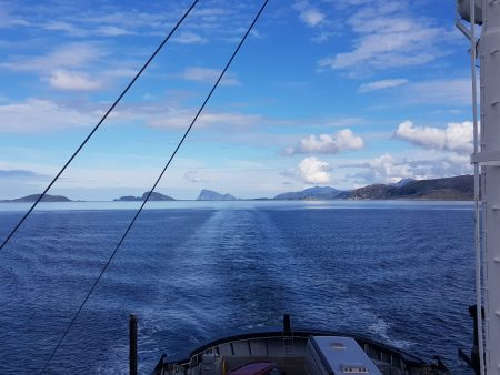 Norway by motorhome: Ferry from Sommaroy to Senja