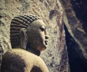 Stone statue of Buddha - Sri Lanka.