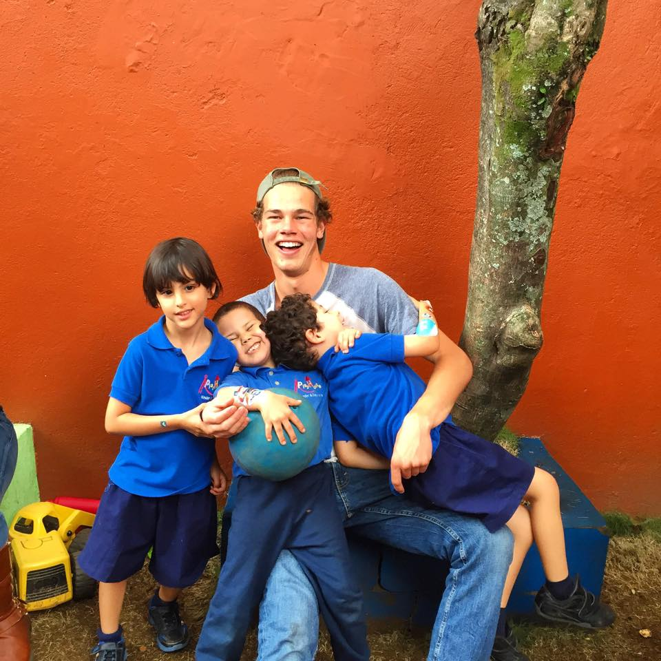 playing with costa rican children