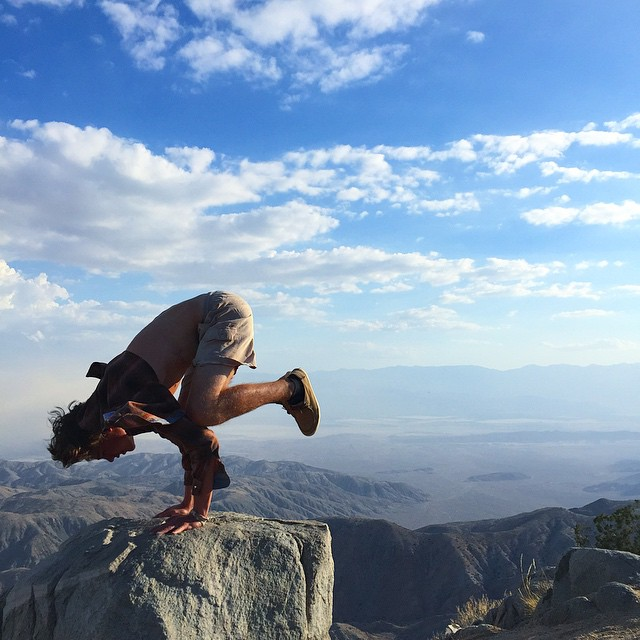 yoga in Joshua Tree National Park, California
