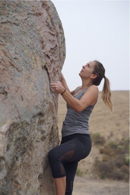 bouldering in Bishop's Peak