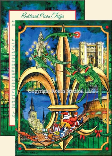 Louisiana Christmas Fleur De Lis Christmas Cards C10B