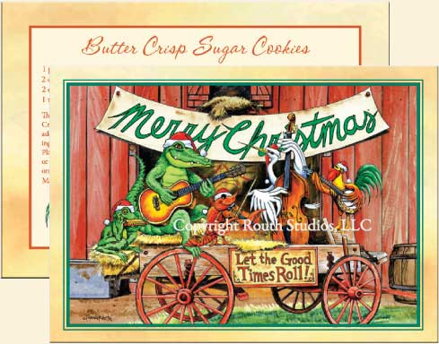 Let The Good Times Roll Christmas Cards C11A Routh