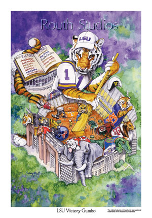 LSU Victory Gumbo Routh Studios LLC