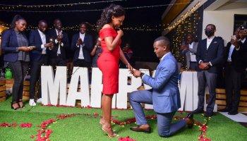 Canary Mugume proposes to Sasha Ferguson