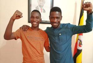 Tamale Mirundi Junior with Bobi Wine