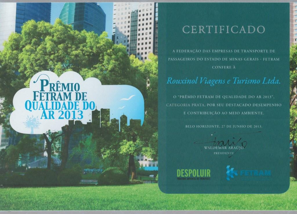 Prêmio FETRAM de Qualidade do ar 2015