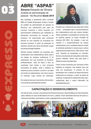 """Informativo """"Expresso Rouxinol"""" - Nº 14, pág 03"""
