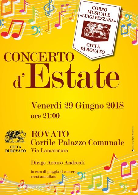 Concerto d'estate della banda di Rovato, il programma