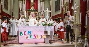 Il vescovo Tremolada a Lodetto, foto pagina Facebook Città di Rovato
