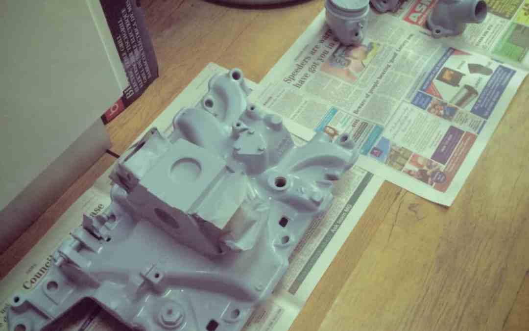 Painting the Rover P5B Intake Manifold