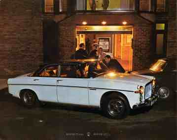 Brochure---1968---Rover-3½-Litre---Image---White-Coupe-At-The-Crescent-Theatre,-Cumberland-Street,-Birmingham