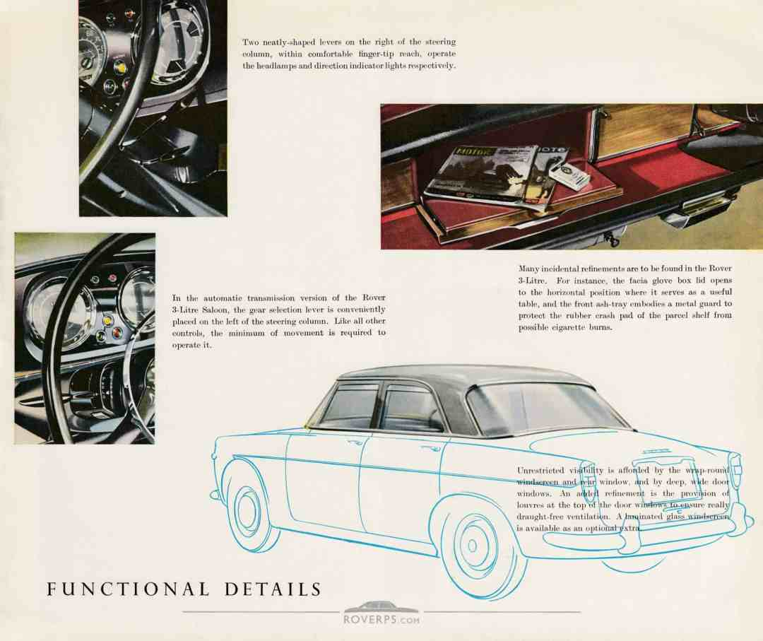 Brochure - 1959 - Rover The 3-Litre Saloon - Page 10