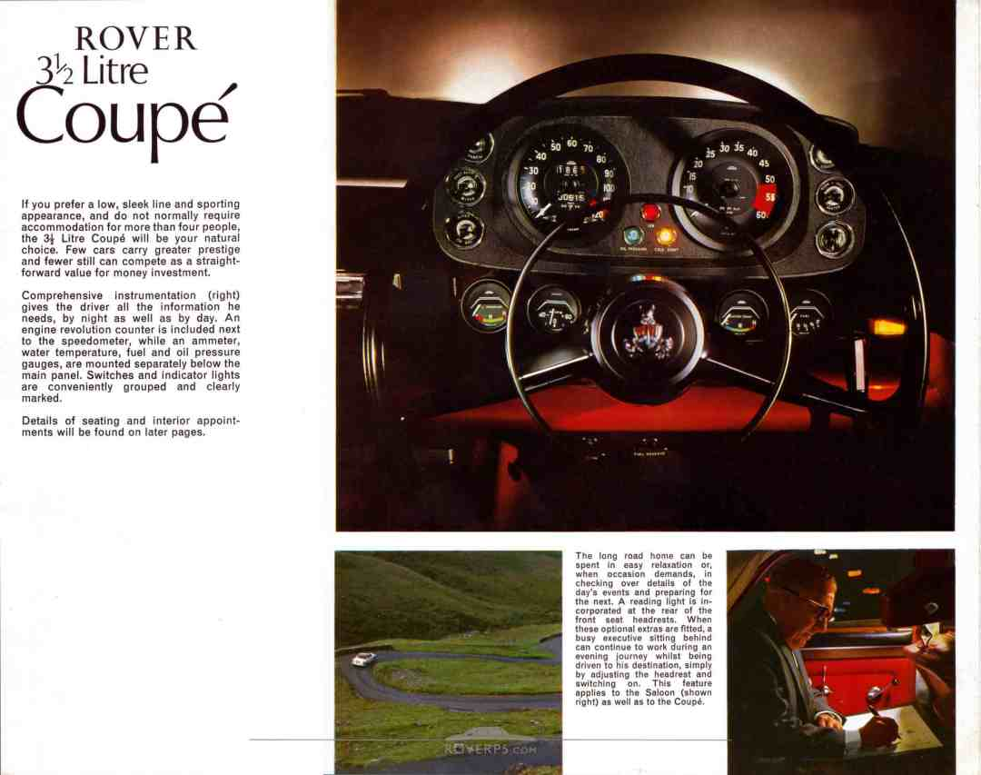 Brochure - 1968 - Rover 3½ Litre - Page 07