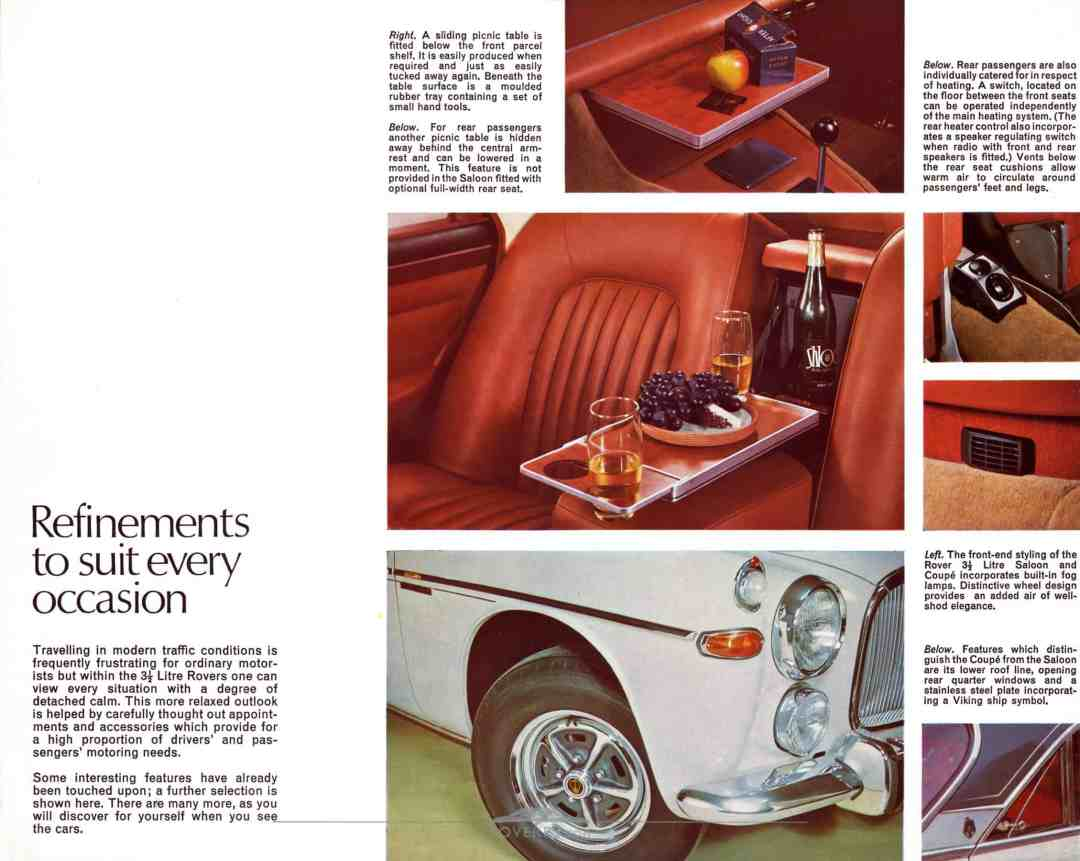 Brochure - 1968 - Rover 3½ Litre - Page 13