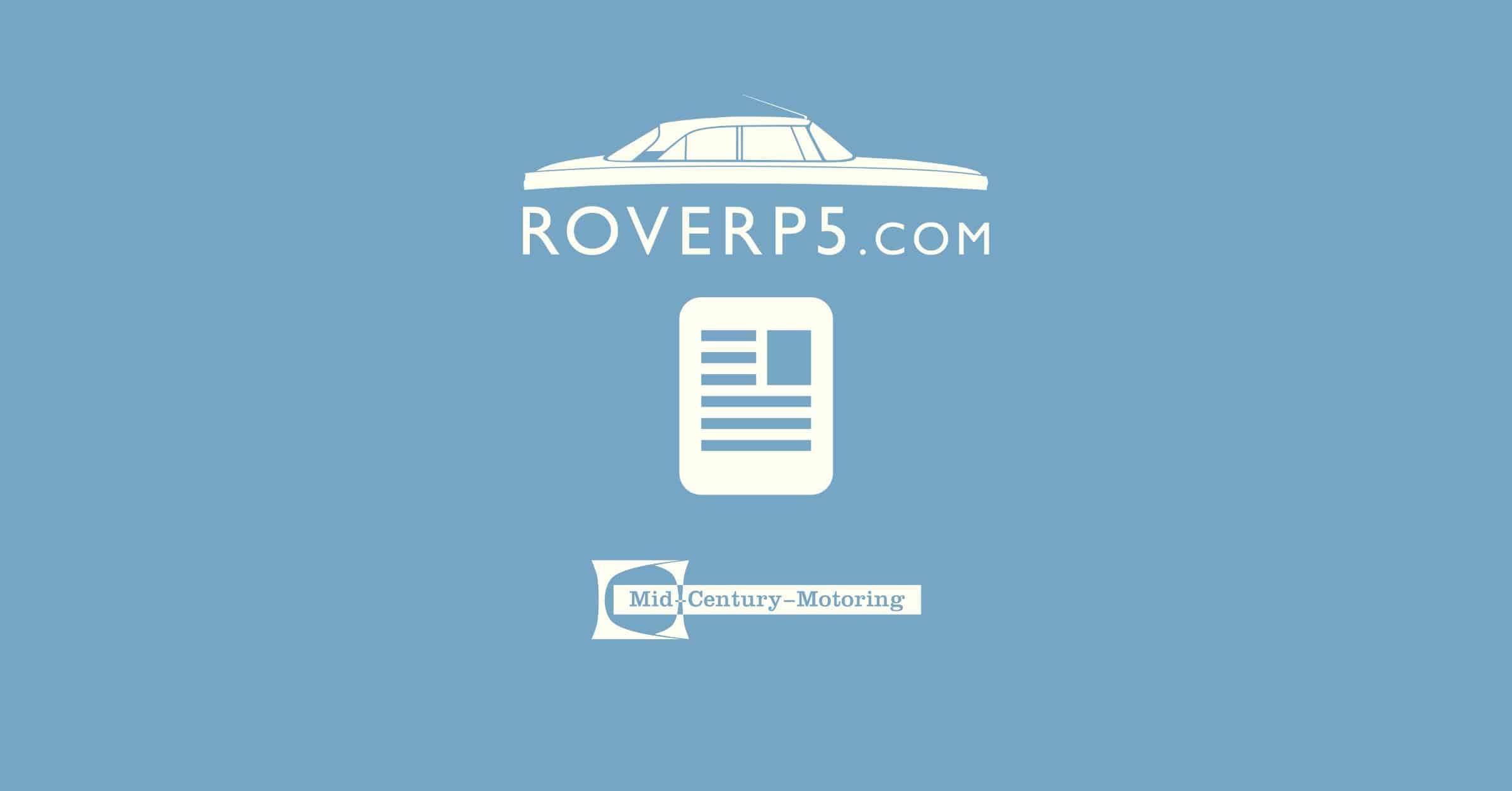 Cold War Motors 1963 Rover P5: Update 01