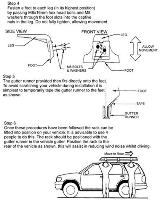 Land Rover Roof Rack Installation Instructions