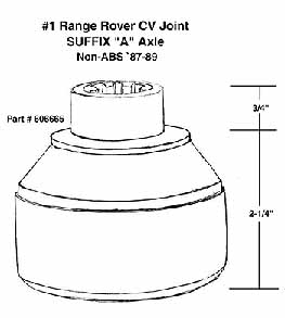 Correct CV Joint For Your Range Rover Classic