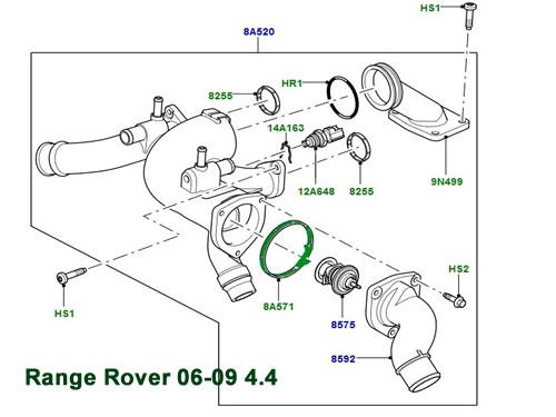 GENUINE LAND ROVER THERMOSTAT GASKET RANGE ROVER LR3 RANGE