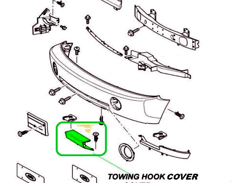 LAND ROVER TOWING EYE FRONT BUMPER COVER RANGE ROVER 06-09