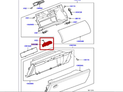 GENUINE LAND ROVER GLOVE BOX LATCH RANGE ROVER 07-12
