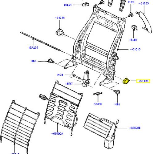 GENUINE LAND ROVER HANDLE FRONT SEAT BACK ADJUSTING LR3