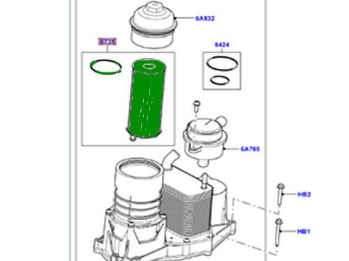 LAND ROVER OIL FILTER 3.6L V8 DIESEL LR002338 RANGE ROVER