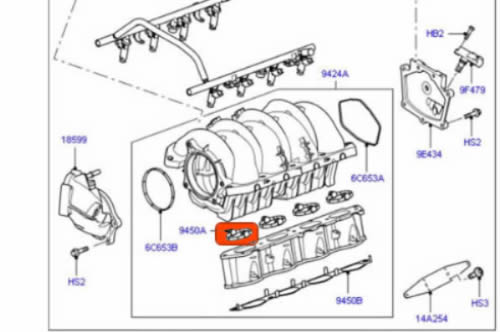 GENUINE LAND ROVER INTAKE MANIFOLD GASKET RANGE ROVER LR3