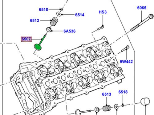 GENUINE LAND ROVER INLET VALVE LR010863 RANGE ROVER 10-12