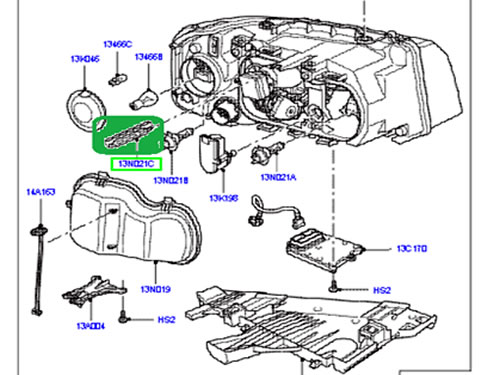 LAND ROVER HEADLAMP BULB WITH IGNITOR LR2 RANGE ROVER