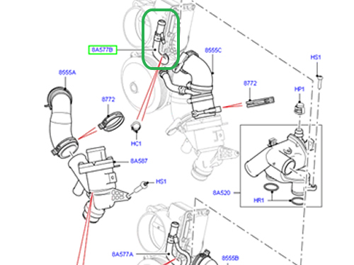 Service manual [2012 Land Rover Lr4 Heater Hose Removal