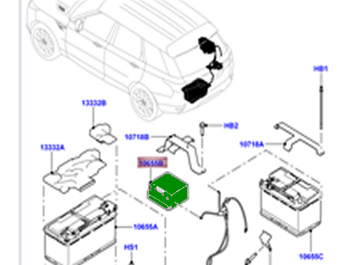 2013 Range Rover Evoque Auxiliary Battery Location
