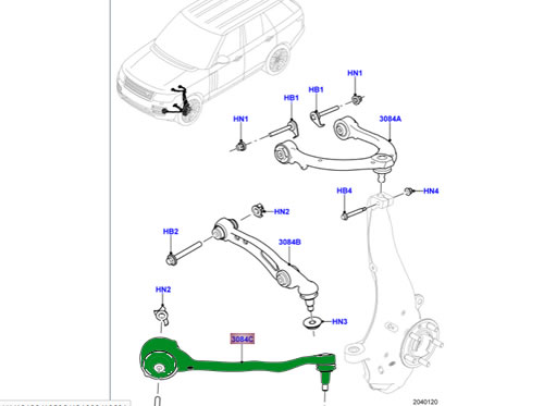 LAND ROVER LOWER CONTROL ARM FRONT LH RANGE R SPORT 13