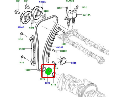 GENUINE CRANKSHAFT GEAR LR2 EVOQUE SPORT RANGE ROVER