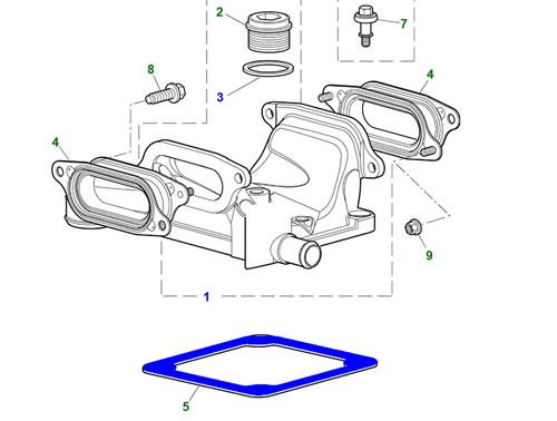 JAGUAR XK8 XJ S-TYPE XK XF Supercharger Outlet Duct Gasket