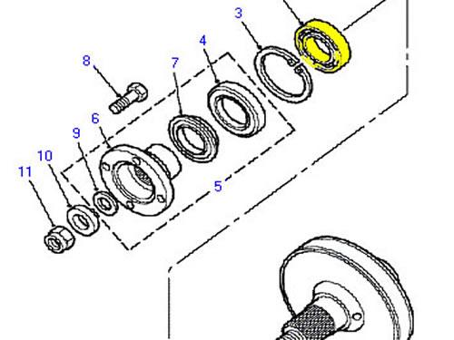 LAND ROVER TRANSFER BOX BEARING RANGE ROVER CLASSIC 4.0 4