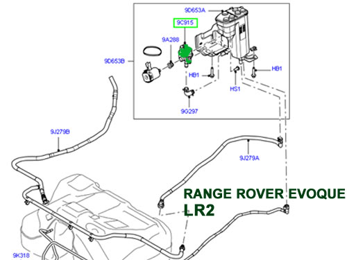 LAND ROVER FUEL VALVE LEAK DETECTOR LR2 LR3 LR4 RANGE