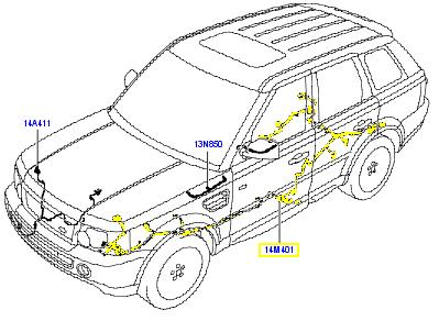 Range Rover Wiring Harness Swing Harness Wiring Diagram