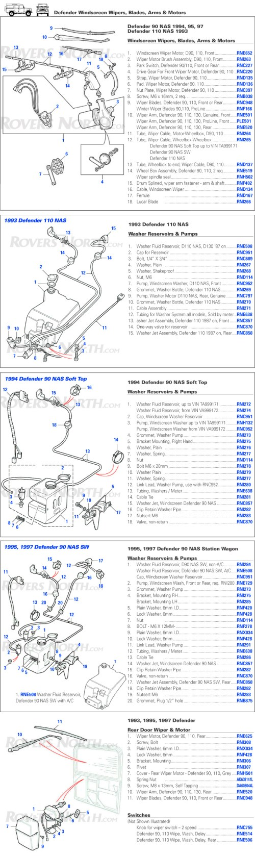 small resolution of land rover defender windscreen wipers washers