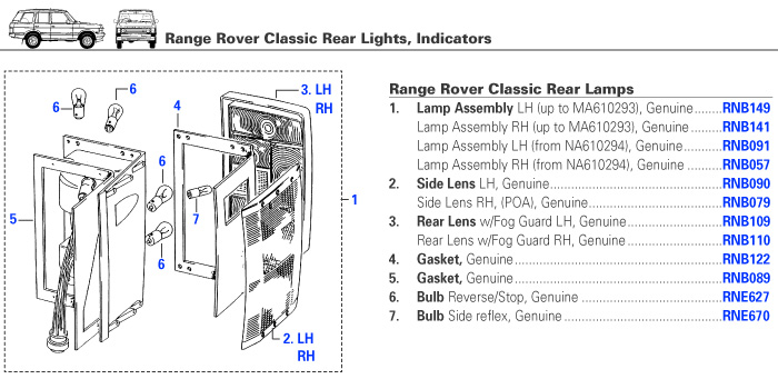 3 Lamp Wiring Diagram Range Rover Classic Electrical Rear Lights Rovers