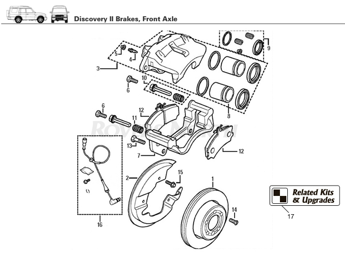 land rover discovery parts diagram dremel 4000 mod ii front brake | rovers north - and accessories since 1979