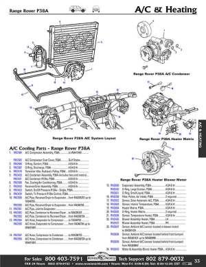 Range Rover P38A 9598 Air Conditioning Heater & Air