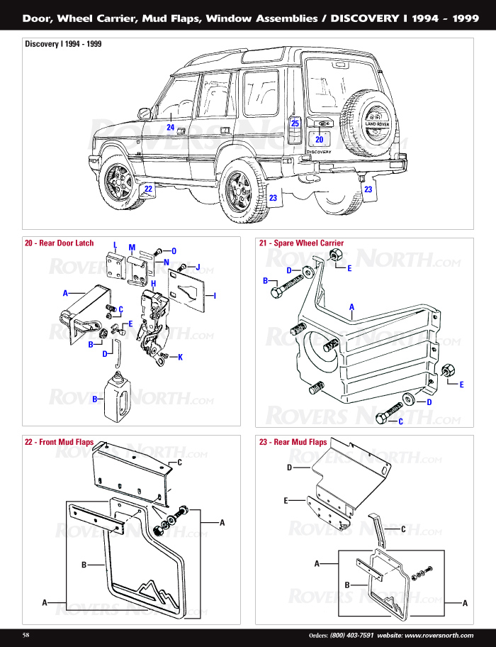 2000 subaru outback engine diagram 1998 chevy blazer radio wiring discovery i body panels | rovers north - land rover parts and accessories since 1979