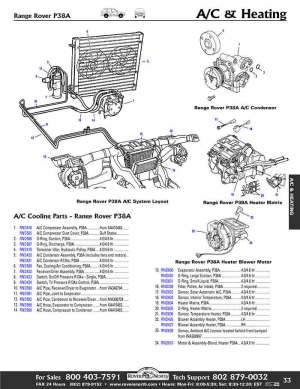 1999 2002 Range Rover P38A Air Conditioning, Cooling