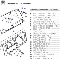 Land Rover Discovery 2 Seat Wiring Diagram Carrier Window Air Conditioner Defender Dashboard, Dash, Electrical Gauges, Switches, Trim Parts   Rovers North - ...