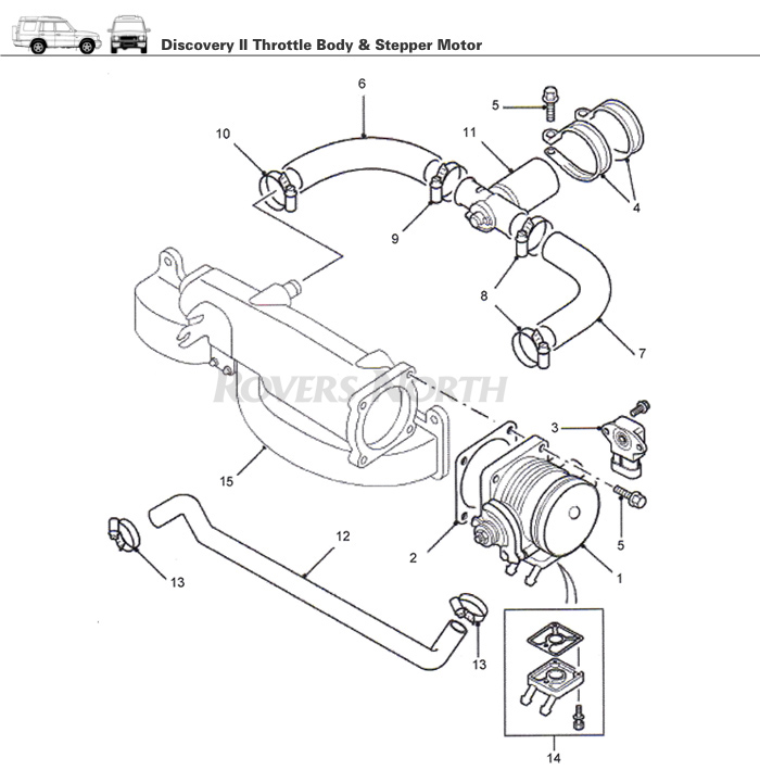 Throttle Body and Stepper Motor, Top End, Engine