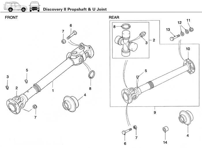 Land Rover Discovery 2 Drive Shaft Upgrade