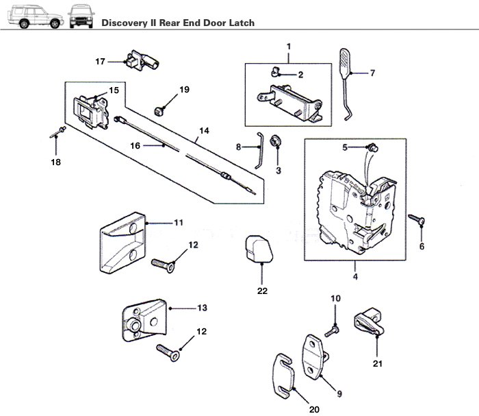Land Rover Discovery 1 Rear Door Lock